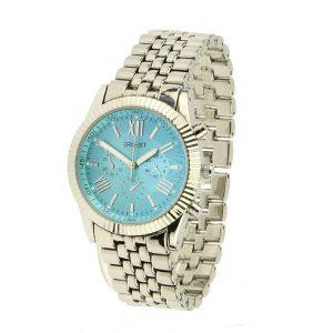 ernest horloge pressley zilver aqua