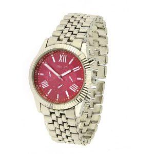 ernest horloge pressley zilver rood