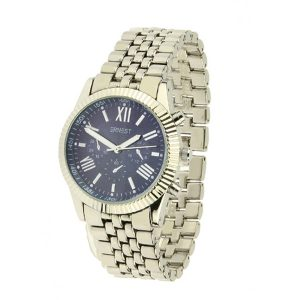 ernest horloge pressley zilver donkerblauw
