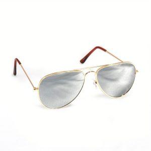 Mirror aviator zonnebril zilver-0
