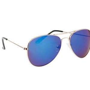 Spiegel zonnebril aviator blauw-0
