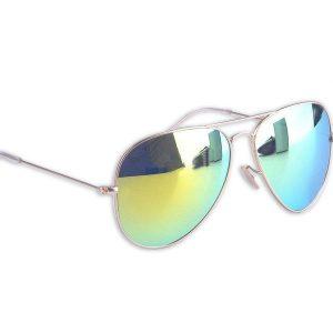Spiegel aviator zonnebril groen-0