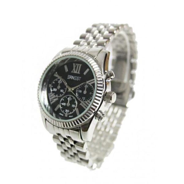 Bekend Ernest horloge pressley zilver zwart • Doorzo.nl #OL57