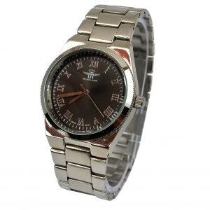 Michael John horloge zilver bruin