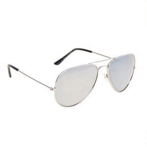 Spiegel zonnebril aviator zilver-0