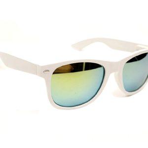 Wayfarer spiegel zonnebril wit groen-0