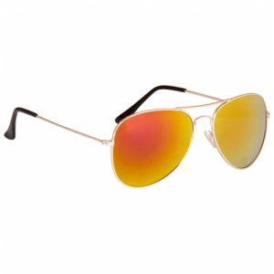 Spiegel zonnebril Aviator oranje-0