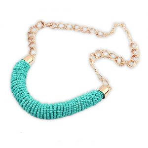 Statement ketting mint sky-0