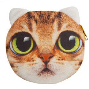 Portemonnee cat brown-0