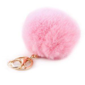 sleutelhanger fluffy pink