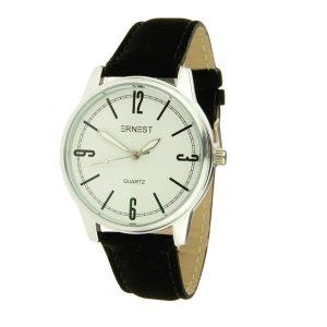 ernest-horloge-londen-zwart-zilver