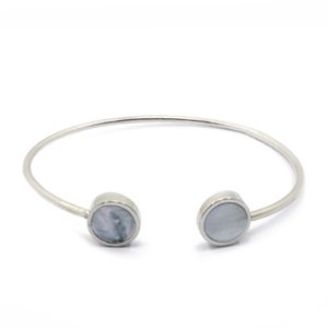 stalen-armband-bangle-marble-zilver