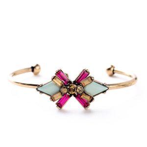 stalen-armband-bangle-steentjes-pink
