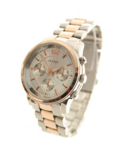 ernest horloge zilver rose