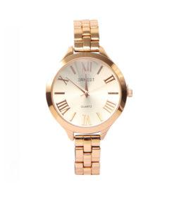 |ernest horloge brook rose goud|