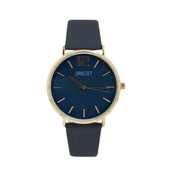 |ernest horloge blauw rose|