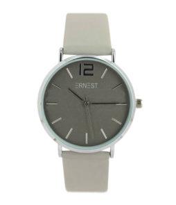 |ernest horloge elita grijs zilver|