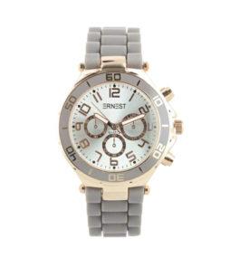 |ernest horloge siliconen grijs