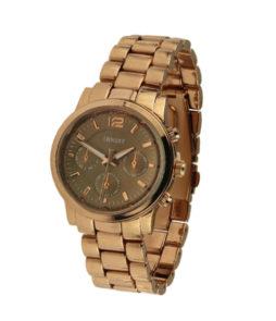 |ernest horloge rose bruin