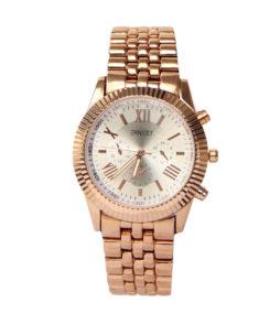 |ernest horloge pressley rose zilver|
