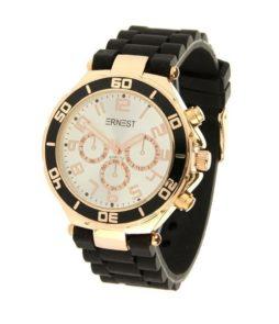 Ernest horloge zwart rose goud