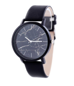 horloge marmer zwart