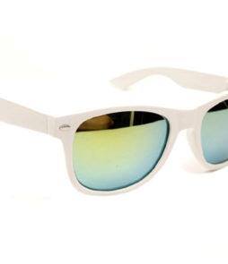 Wayfarer spiegel zonnebril wit groen-0|Wayfarer spiegel zonnebril wit groen-448