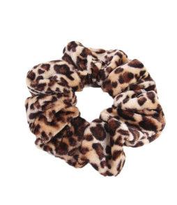 haarelastiek luipaard scrunchie